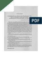 Ch Consec Ruggieri. Fondazione Di Una Chiesa (Codex Theodosianus XVI, 10, 25 e Iustiniani Corpus Iuris Civilis)- Problematiche Storico-giuridiche e Liturgiche