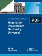 Cuadernillo INCaP - Nº 1 - Historia Del Pensamiento Nacional y Universal