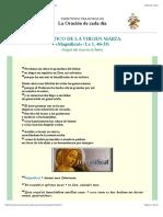 Cántico de la Virgen María, «Magníficat» (Lc 1,46-55)