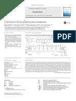A Novel Process for Low Grade Heat Driven Desalination