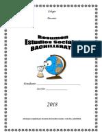 Antología Bachillerato Estudios Sociales 2018