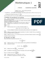 Centrale Pc 2017 Maths1 Sujet