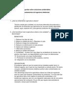 Preguntas Sobre Soluciones Ambientales-Fundamentos de Ingeniería Ambiental