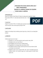Kertas Kerja Prog.pecutan UPSR 2017