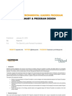 Emerging Environmental Leaders Program - Public Report