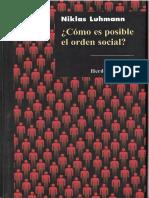 2009 Luhmann Niklas Como Es Posible El Orden Social Ocr Rdx