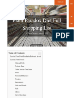 Plant Paradox Lectin Free Diet Full Shopping List (Mobile Friendly!)