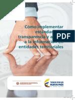 Como Implementar Estandares Transparencia Entidades Territoriales