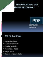 Dioda Semikonduktor Dan Karakteristiknya