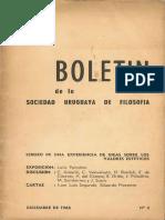 Boletín Sociedad Uruguaya de Filosofía