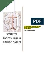 Procesul Lui Galileo Galilei-sentința-22 Iunie 1633-Traducere Completă