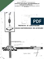 Proyecto de Explotacion Aguas Subterraneas Del Altiplano