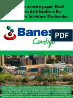 Juan Carlos Escotet - Banesco Acordó Pagar Bs.S 74,98 en Dividendos a Los Titulares de Acciones Preferidas
