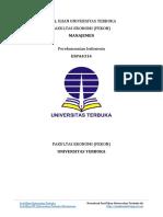 Soal Ujian UT Manajemen ESPA4314 Perekonomian Indonesia