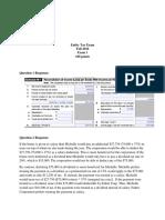 Entity Tax Exam