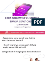 Cara Follow Up Customer Supaya Cepat Order 1.0
