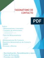 Exposicion de Metasomatismo de Contacto