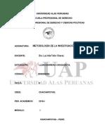 Trabajo de Derecho de Metodologia de La Imvestigacion Cientifica..