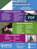 JeffCo Support Staff Jobs Fair Flyer 2018