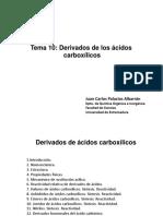 Tema 10. Derivados de ácido carboxílicos