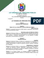 Ley Orgánica Del Ministerio Público de la Legislacion Venezolana