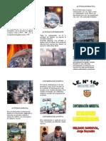 triptico contaminación ambiental