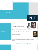 CLIMA - Principais Elementos