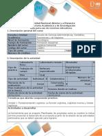 Guía Para El Dearrollo Del Recurso Educativo - Planificador de Proyectos