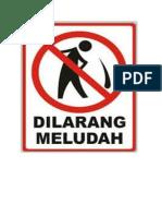 dilarang meludah