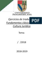 Portada para trabajos de la materia Fundamentos de la Cultura Jurídica