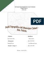 Perfíl topográfico Cabudare - Falcón | Geografía