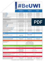 Academic Calendar UWI 2018- 2019