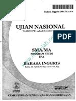 Un Sma 2014 Bahasa Inggris