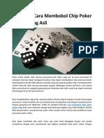 Beberapa Cara Membobol Chip Poker Online Uang Asli1