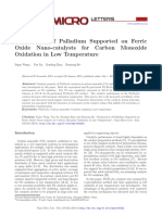 Palladium Supported on Ferric Oxide Catalyst