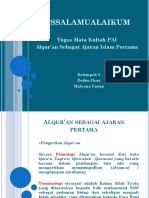 Alquran Sbg Sumber Hukum Islam Pertama Pjkr 1