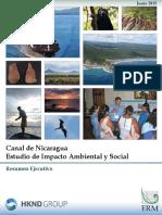 Resumen Ejecutivo Del Estudio de Impacto Ambiental y Social (EIAS) Nicaragua