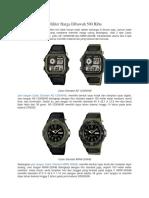 Jam Tangan Casio Militer Harga Dibawah 500 Ribu.pdf