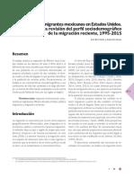 Inmigrantes Mexicans en Usa 1995_2015 Bermúdez y Reyes