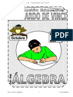 Octubre – Álgebra - 1er Año