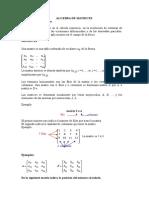 Algebra de Matrices A