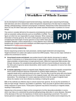 Principles and Workflow of Whole Exome Sequencing