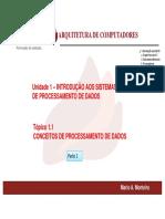 ARQ-COMP-Material para Video Aula-nr 1-Conceitos de Processamento de Dados-parte 1-2018-1
