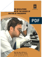 PhD Guidelines MU - 2009