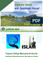 1. Pengantar Sertifikasi Halal Dan SJH 90113