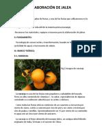 Elaboracion de Jalea de Naranja