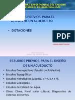 Dotaciones Estudios Previos