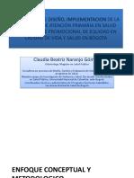 Experiencia de Diseño, Implementacion de La Estrategia de Atención Primaria en Salud Con Enfoque Promocional de Equidad en Calidad de Vida y Salud en Bogota