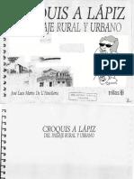 Croquis a Lápiz Del Paisaje Rural y Urbano