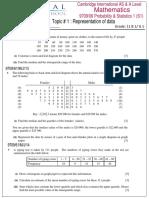 Representation of Data (S1) # 1